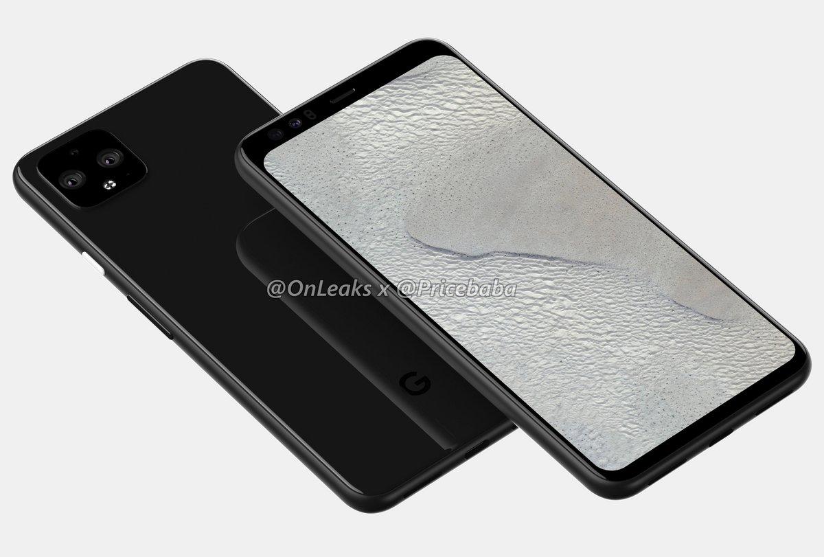 Google Pixel 4 XL rendu