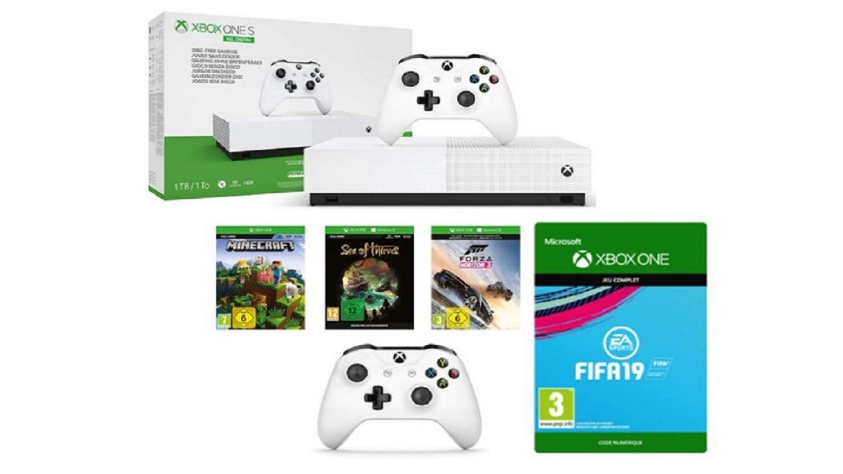 Pack Xbox One S All Digital 4 jeux