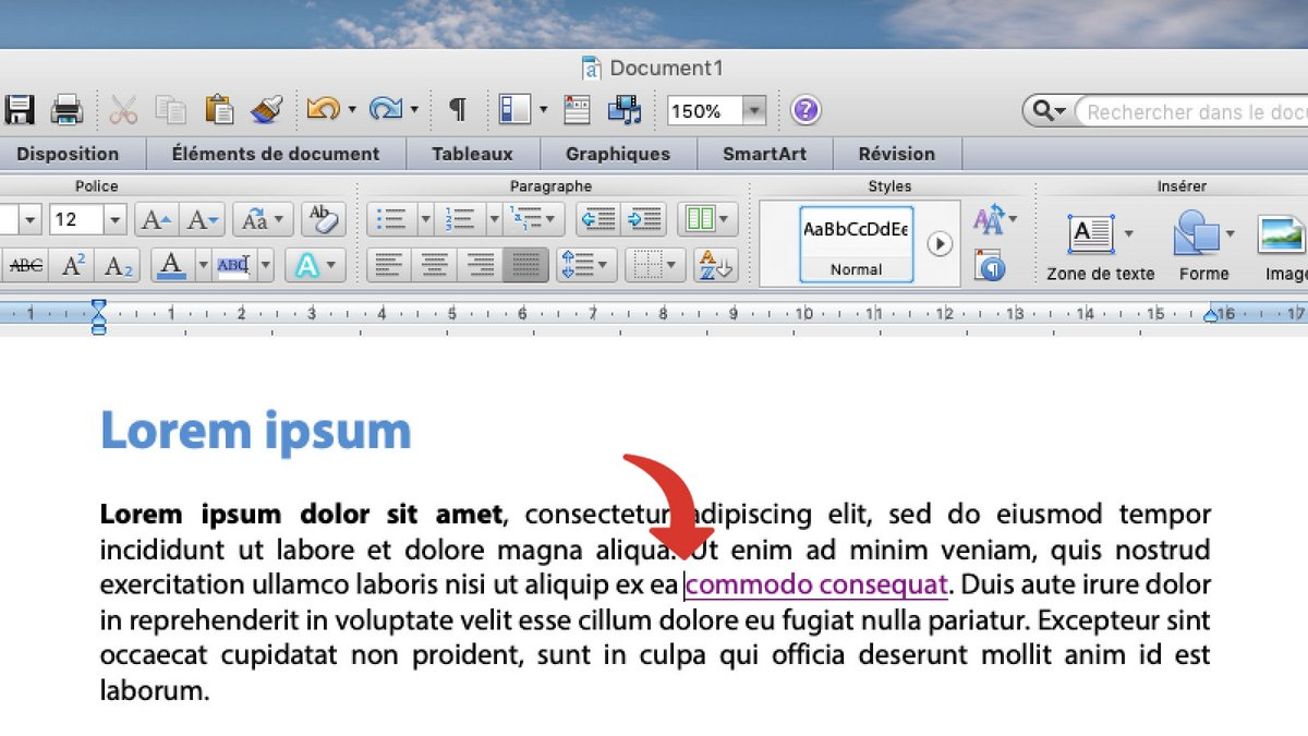 tutoriel hypertexte word