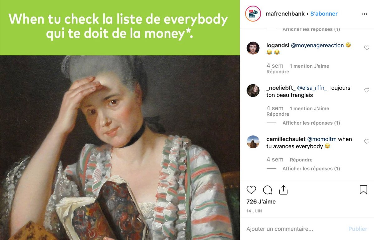 Ma French Bank Instagram
