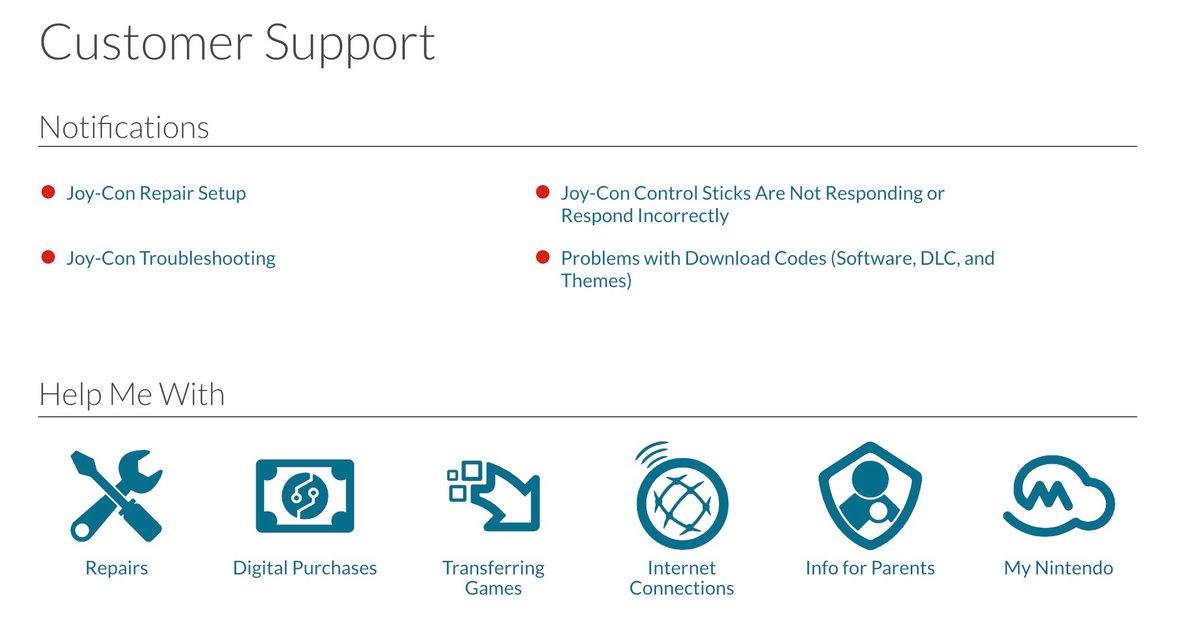 Nintendo support joy con