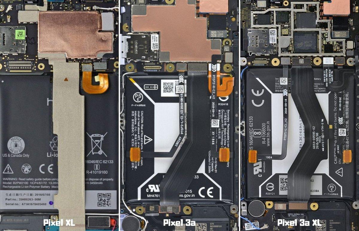 Pixel 3a XL fond écran transparent