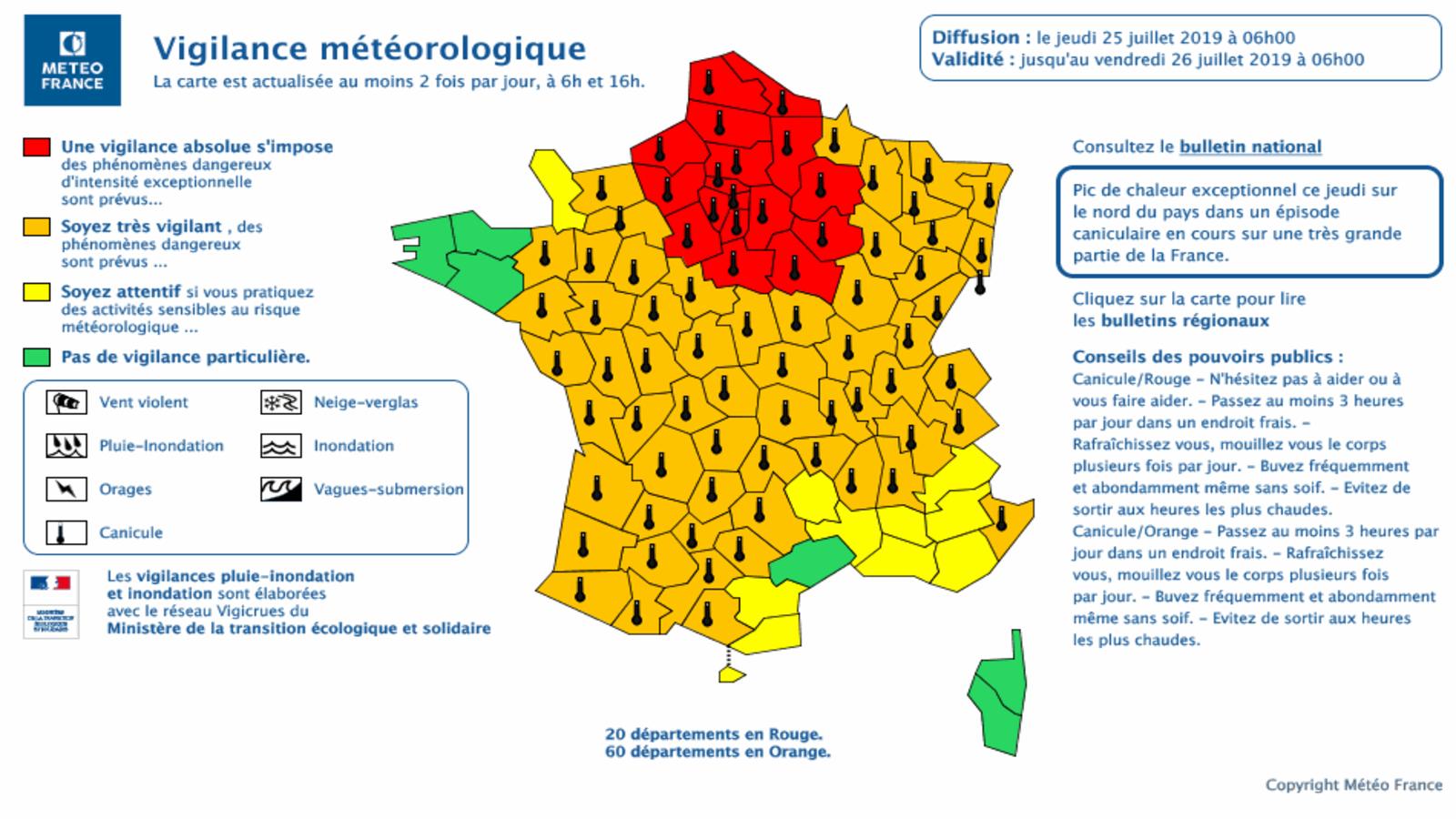 Canicule : le site de Météo France a souffert, mais est de ...