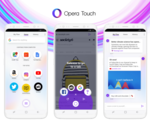 Opera Touch Android et iOS : une mise à jour centrée sur l'interface utilisateur