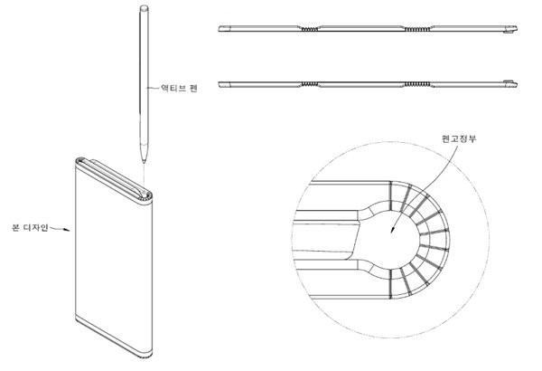LG brevet smartphone pliable
