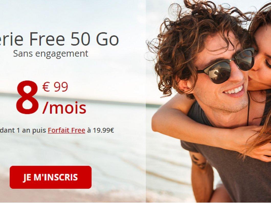 🔥 Forfait 4G Free mobile : la série 50Go à seulement 8,99€/mois