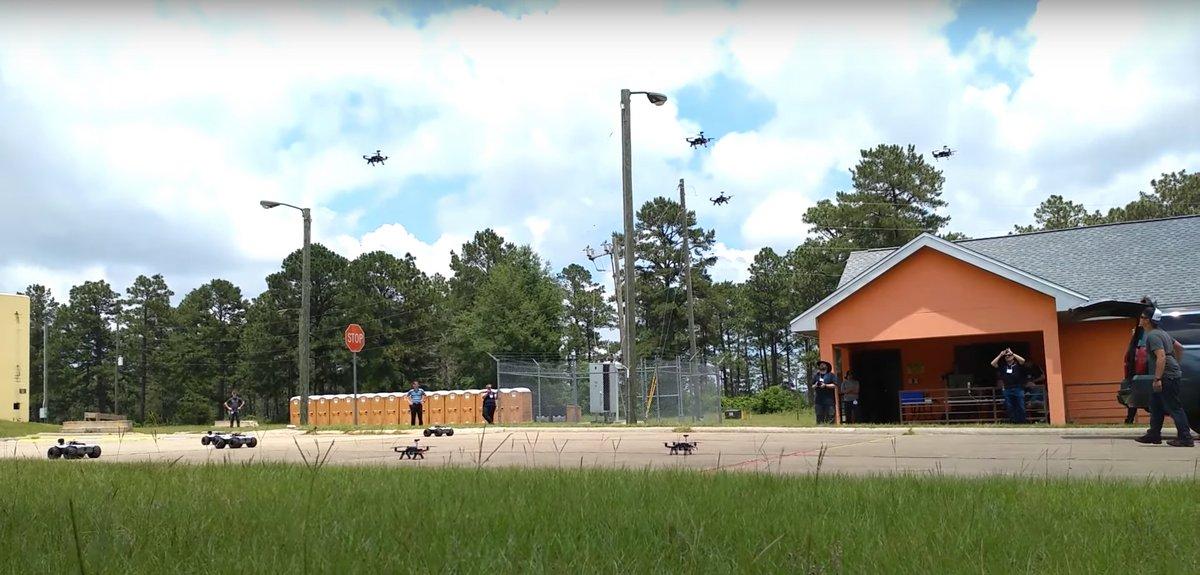 drones essaim darpa