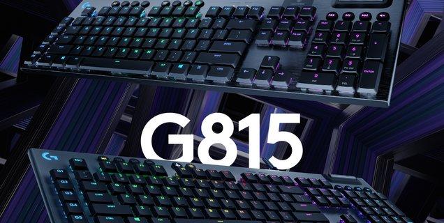 Logitech G dévoile ses claviers G915 Lightspeed Wireless et G815 Lightsync RGB