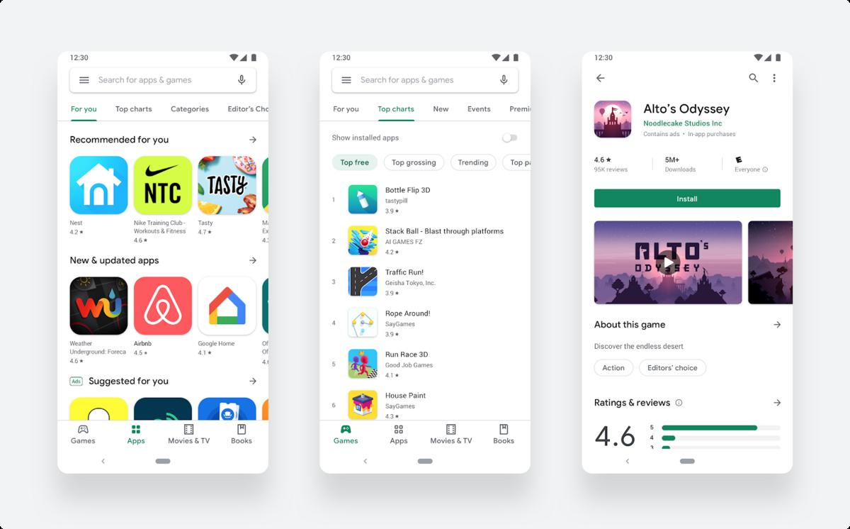 Google Play Store Material Design