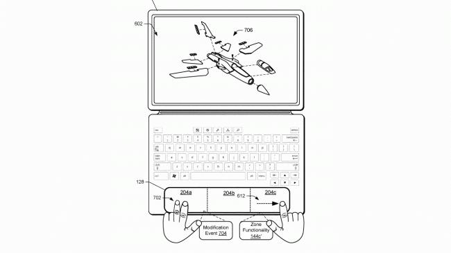 Brevet pavé tactile de Microsoft