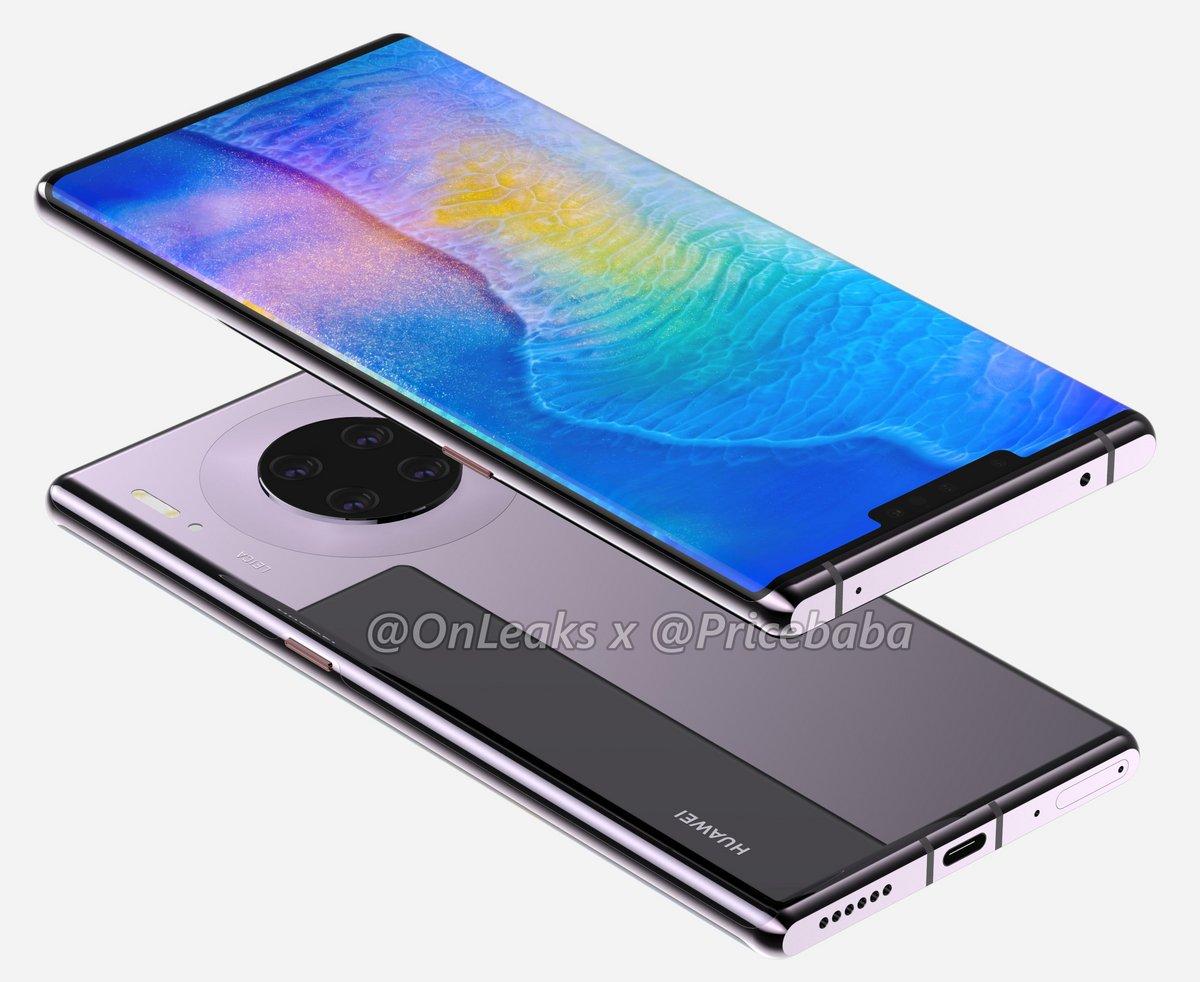 Huawei Mate 30 Pro rendu