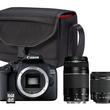 Pack Reflex Canon EOS 2000D + 2 objectifs + carte SD 16 GO + sac
