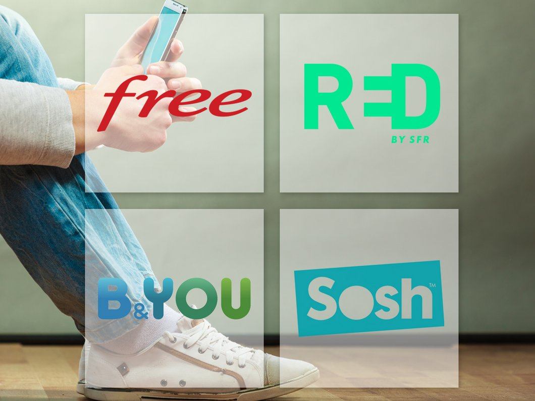 🔥 Les forfaits mobiles sans engagement en promo chez RED by SFR, Free, Sosh, B&You
