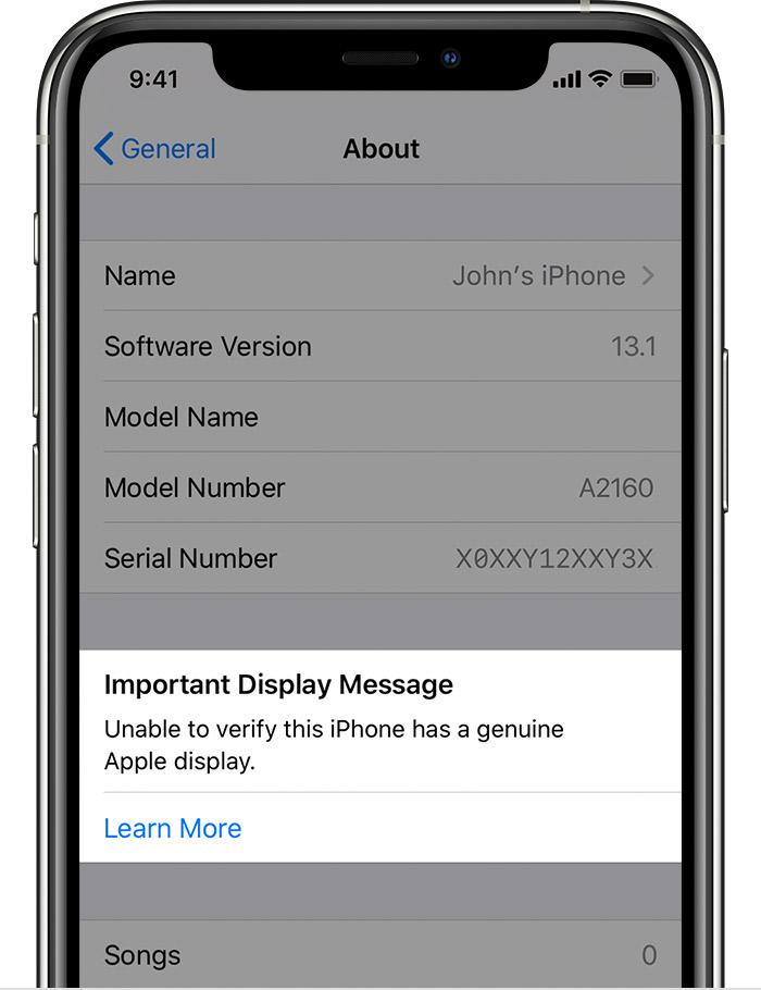 iPhone 11 écran erreur