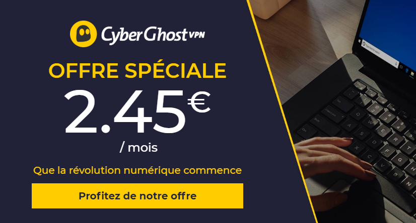 CyberGhost nouvelle offre
