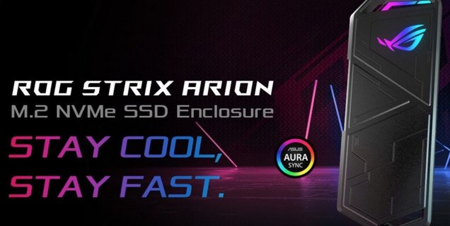 Asus annonce un boitier SSD ROG Strix Arion en USB 3.2