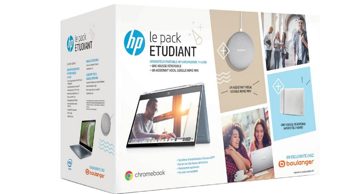 Pack étudiant Chromebook Boulanger