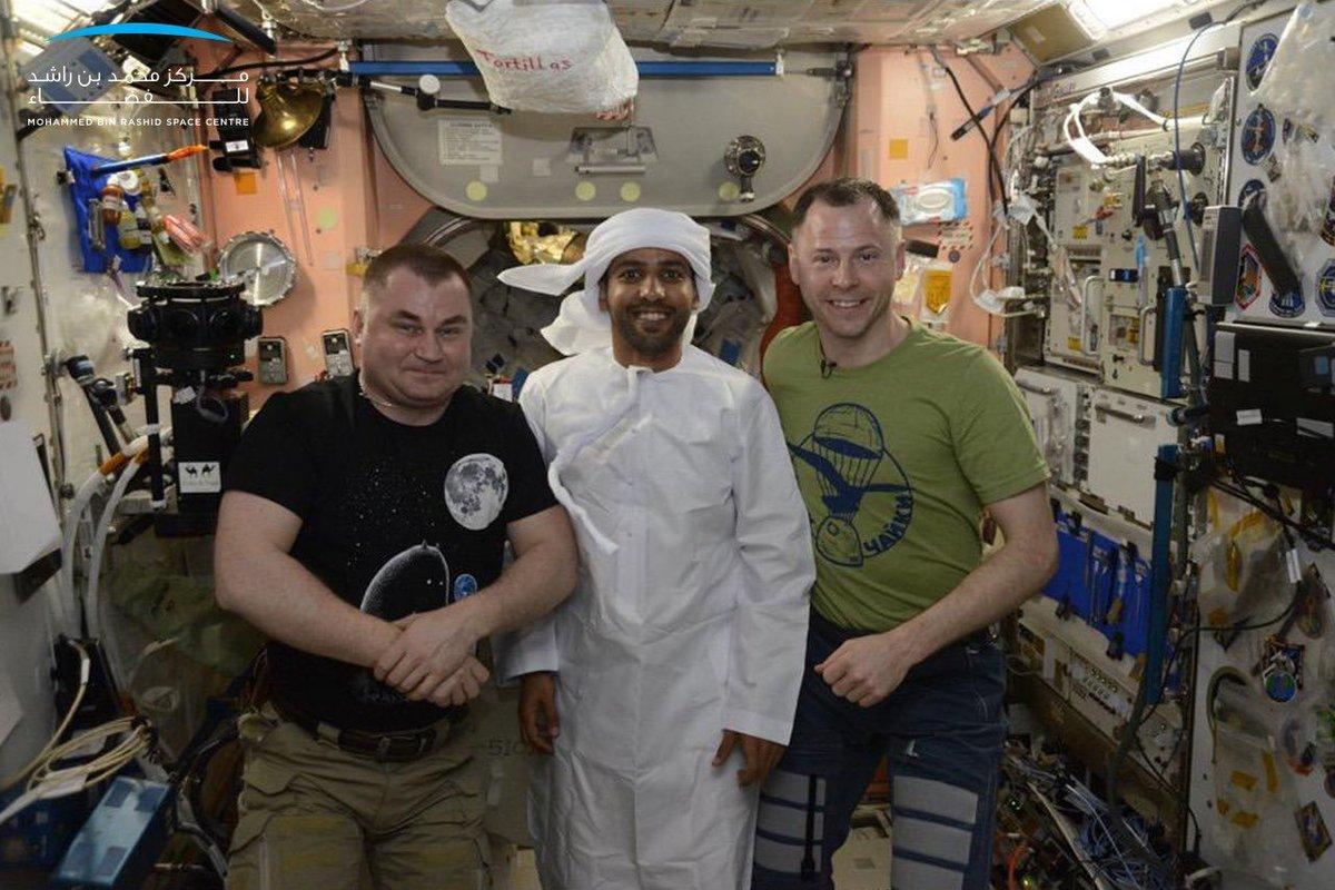Ovchinine, Al-Mansouri et Hague lors de la soiree emiratie