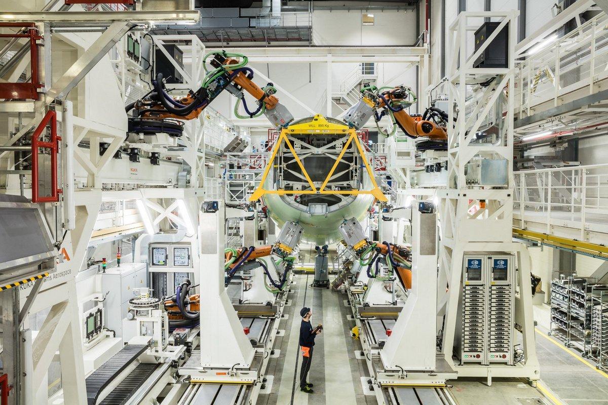 Airbus chaîne d'assemblage automatisée Hambourg