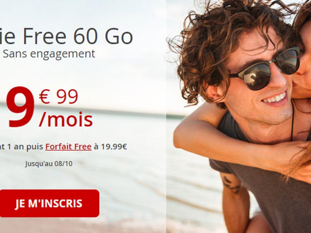 🔥 Forfait 4G : Free mobile ressort son offre 60 Go à 9,99€/mois