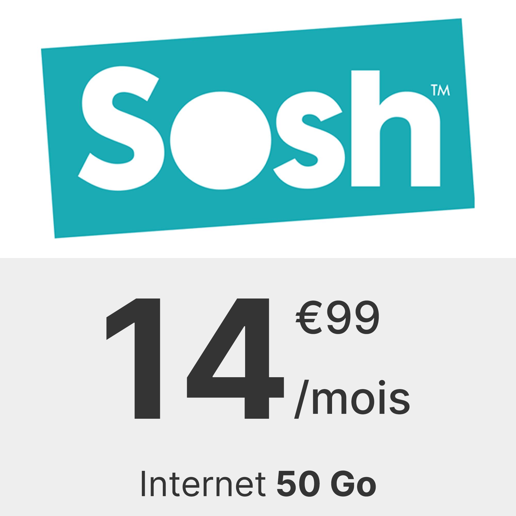 Forfait Sosh 50 Go