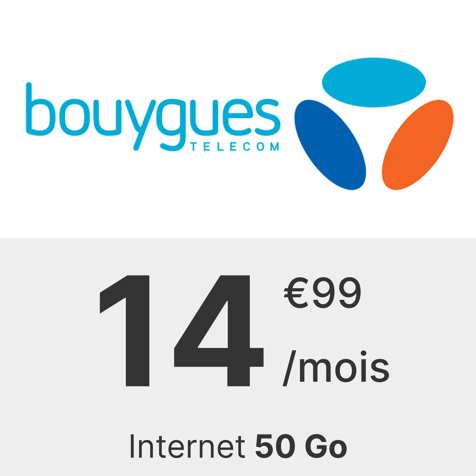 Forfait Bouygues 50 Go