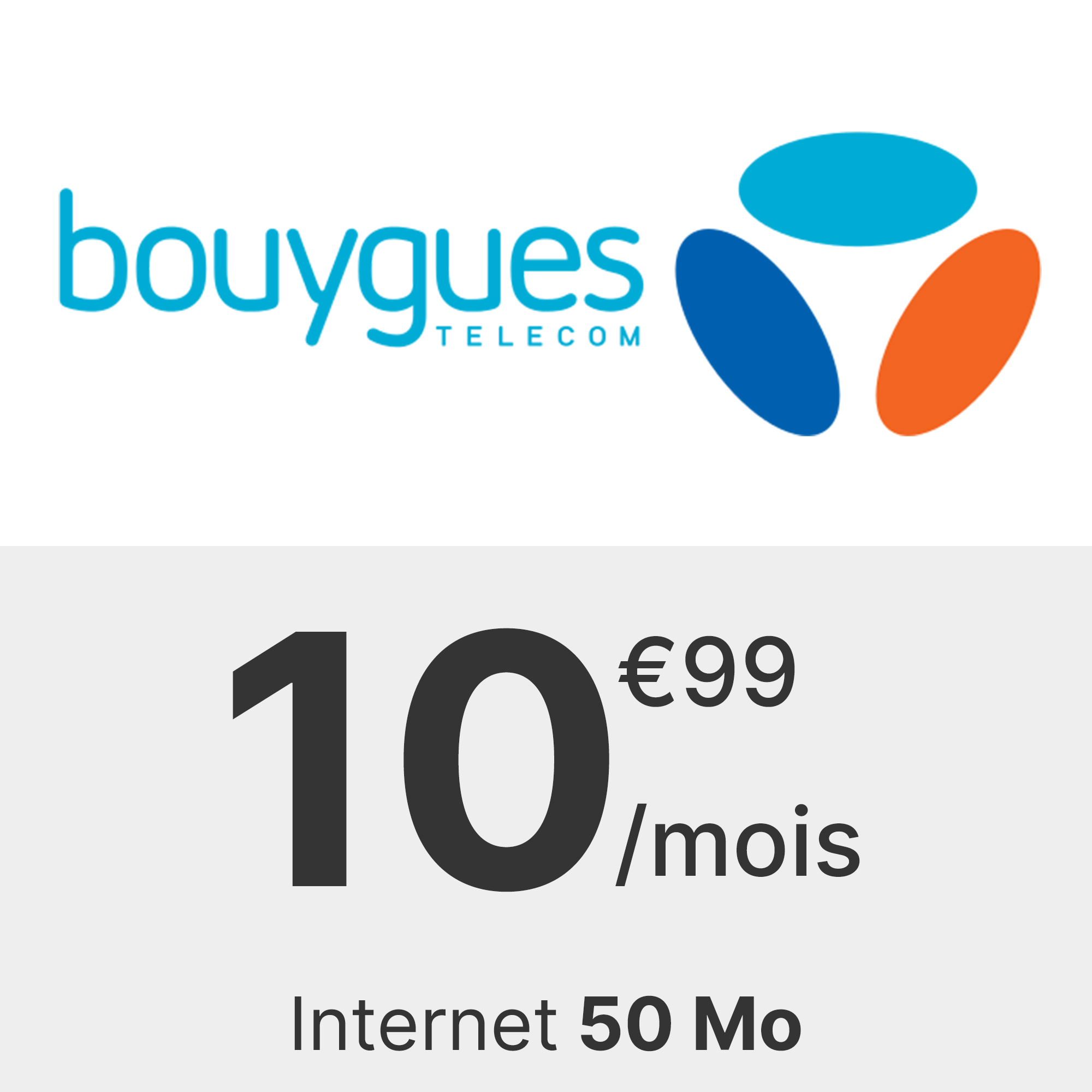 Forfait Bouygues 50 Mo