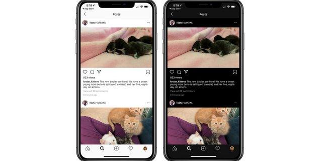 Instagram : le mode sombre enfin disponible sur iOS