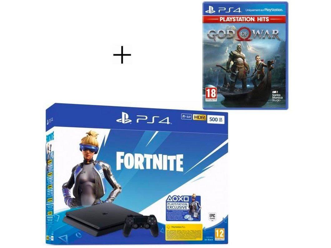🔥 Pack PlayStation : PS4 Slim 500 Go Noire + God of War à 259,99€ au lieu de 319,99€