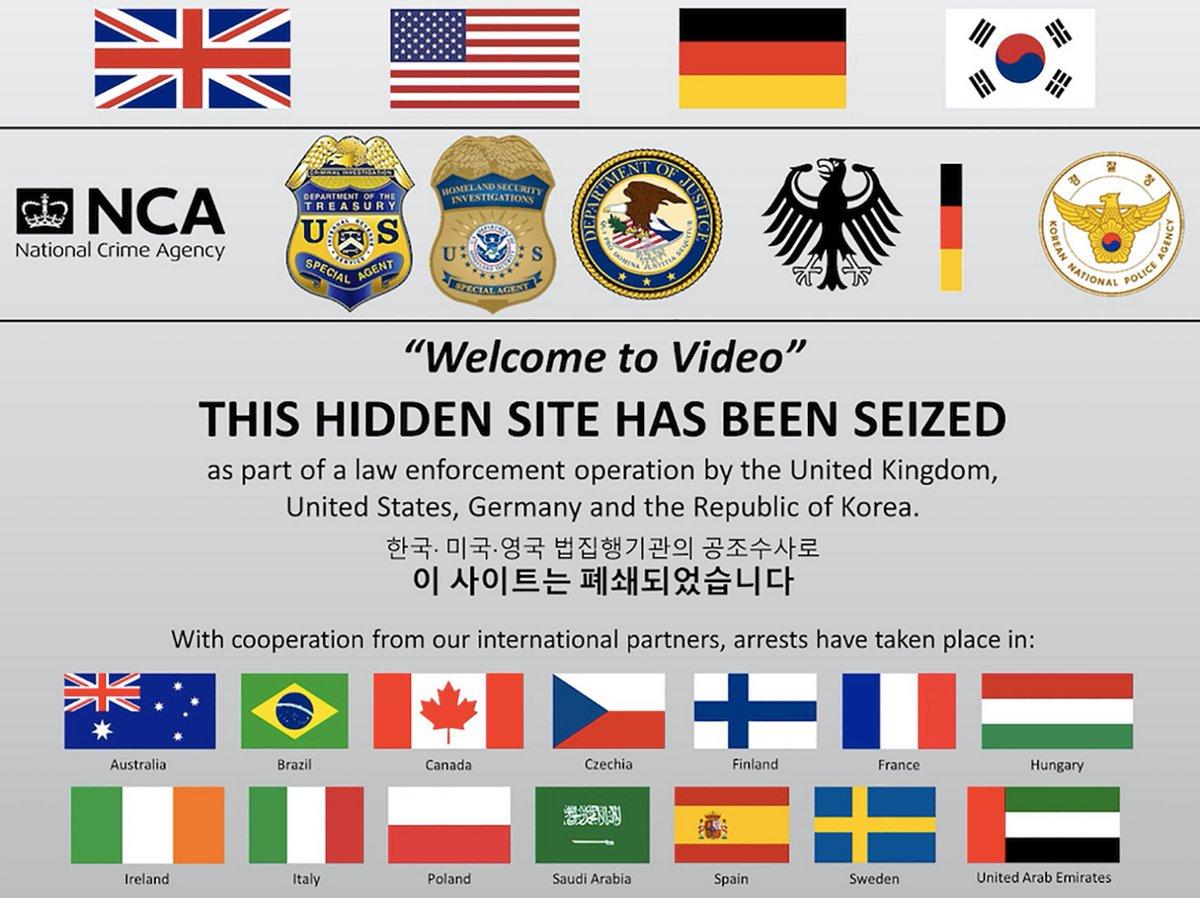 Site pédophile Welcome to Video fermé