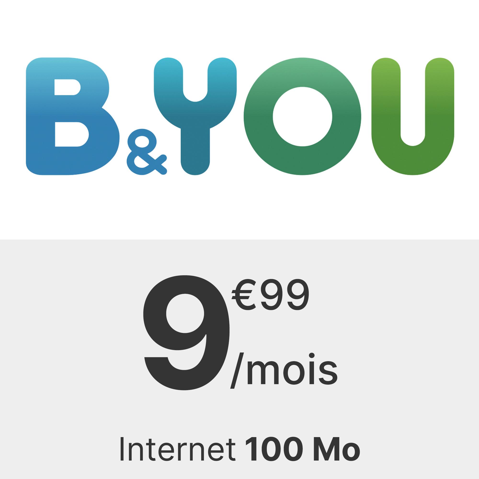 Forfait B&You 100 Mo