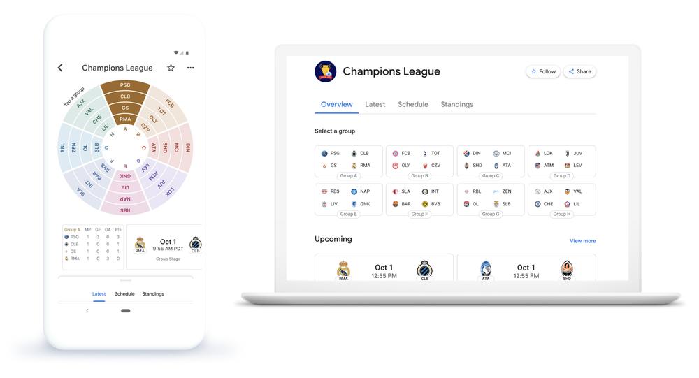 ligue des champions google