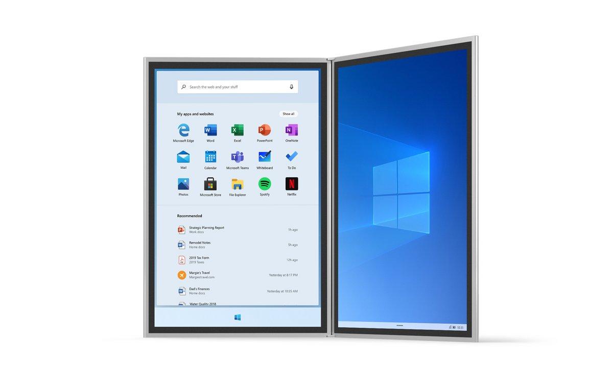 Windows 10X © Microsoft