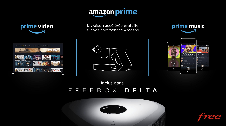 Free intègre le service Amazon Prime sans surcoût — Freebox Delta