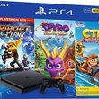 PS4 Slim 1 To + Crash Team Racing + Spyro Reignited Trilogy + Ratchet&Clank