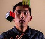 Le saviez-vous ? Il n'a mis que 16 secondes pour résoudre un Rubik's Cube les yeux bandés
