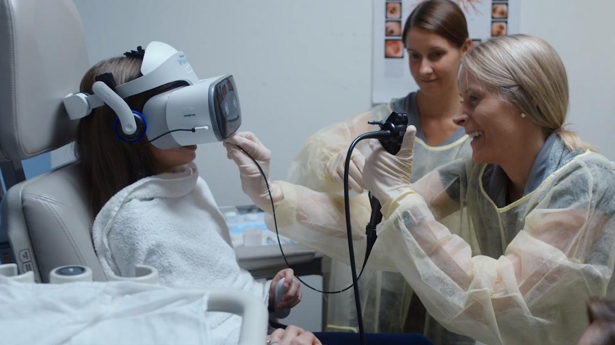 Casque VR médecine enfant