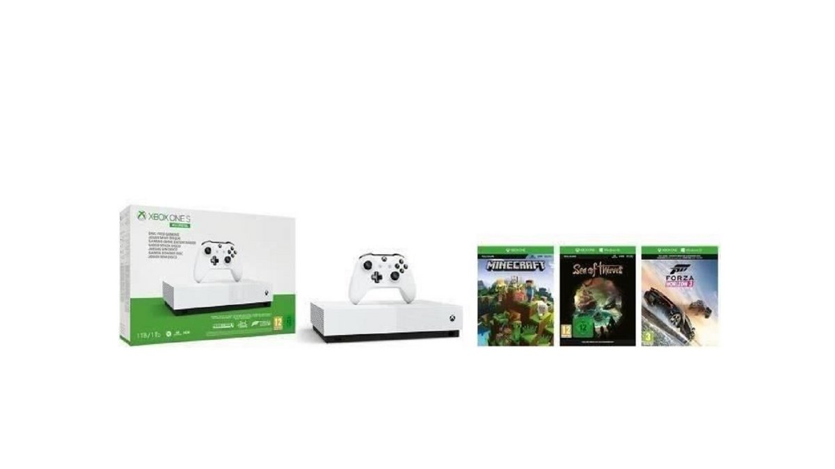 Xbox One S All Digital 1 To Avec Minecraft Sea Of Thieves