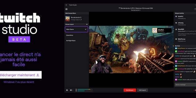 Twitch lance son logiciel de streaming officiel : Twitch Studio