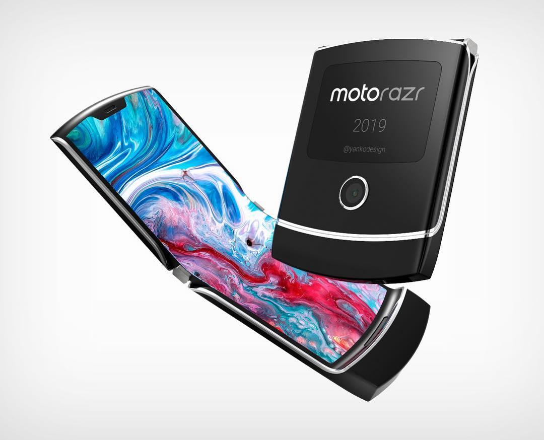Motorola Razr smartphone pliable clapet