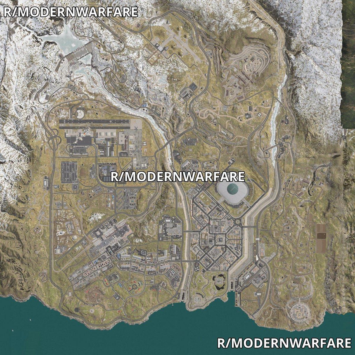 Call of Duty Modern Warfare battle royale map