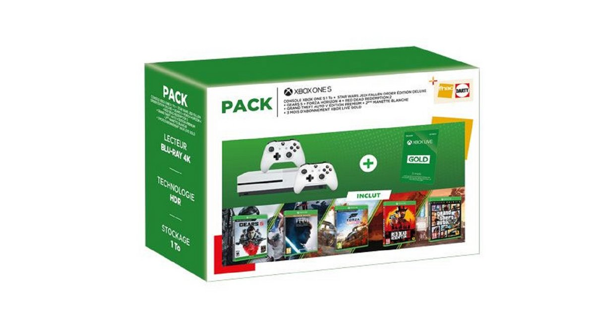 Pack Xbox One S 5 jeux Fnac