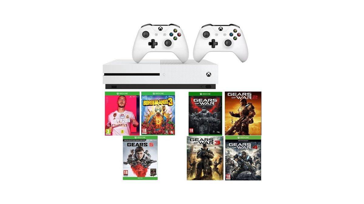 Xbox One S Gears 5 Fifa 20 Borderlands 3 2eme manette.jpg