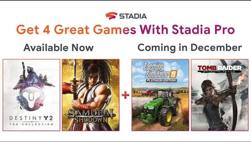 Stadia jeux décembre