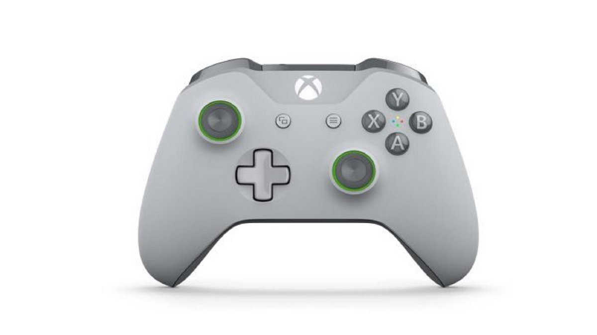 Manette Xbox One grise verte