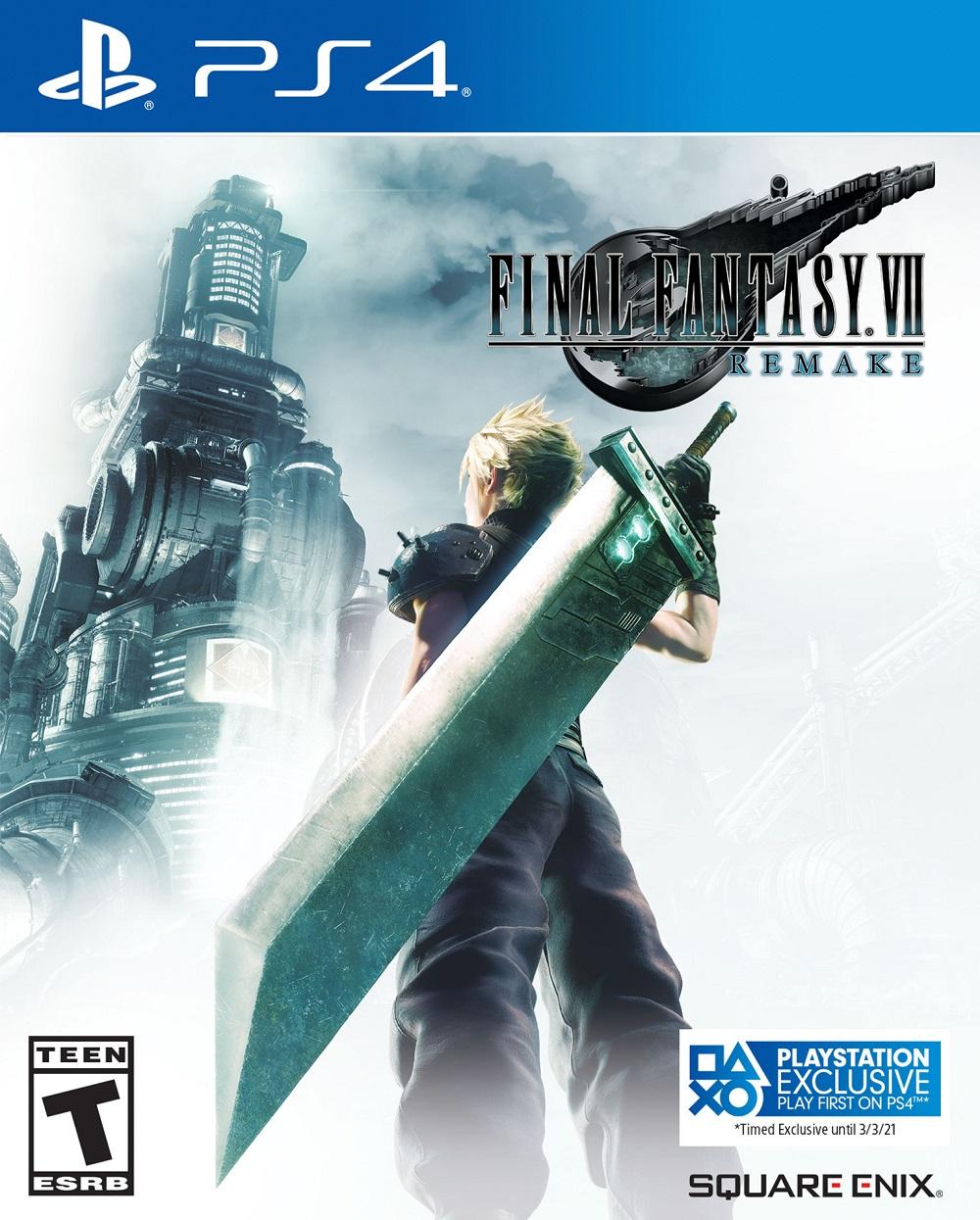 Final Fantasy VII Remake jaquette