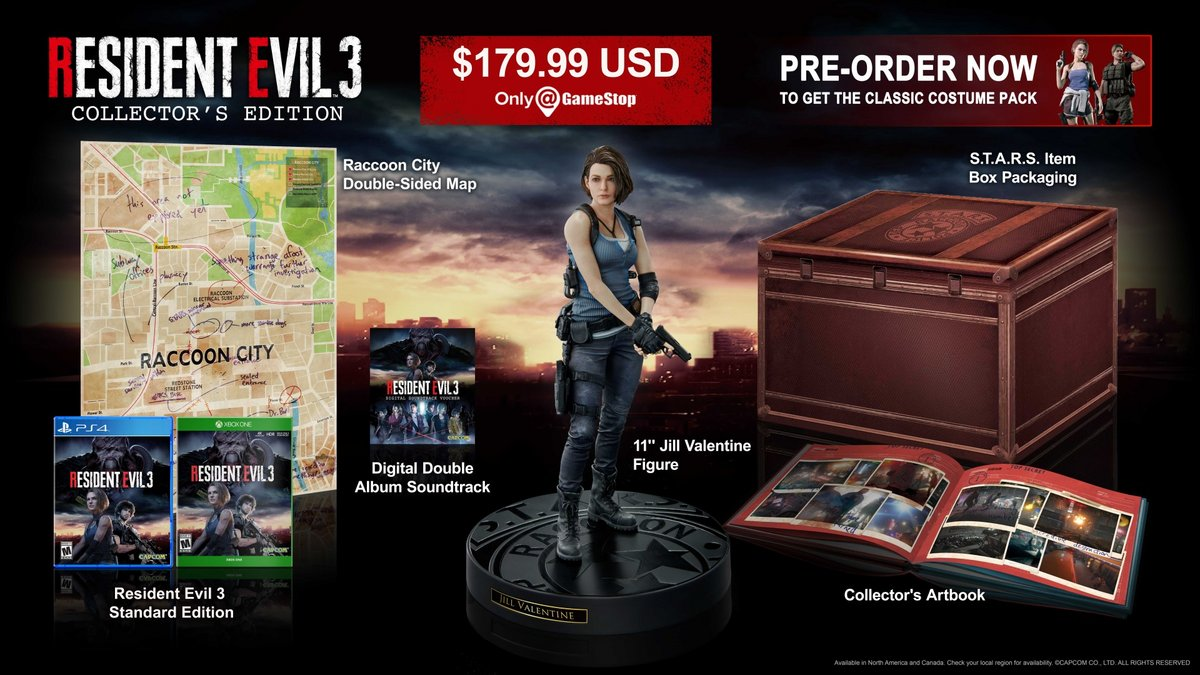Resident Evil 3 Remake collector