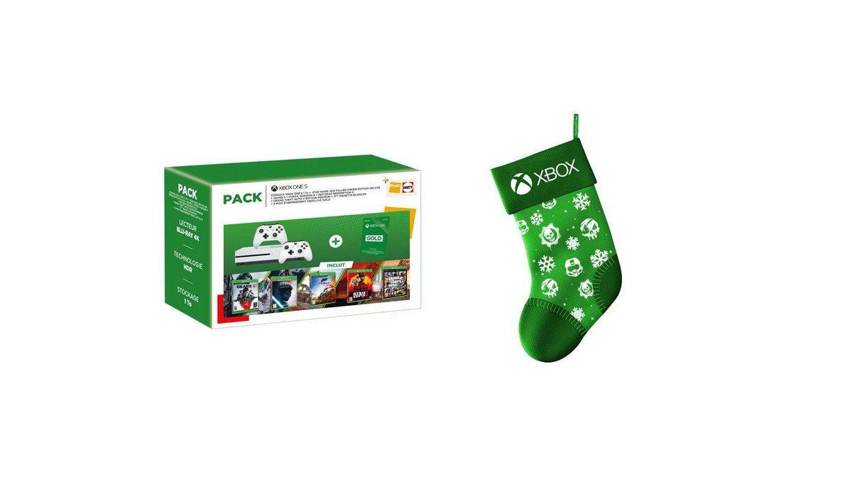 Xbox One S avec 6 jeux chaussette de Noel.jpg