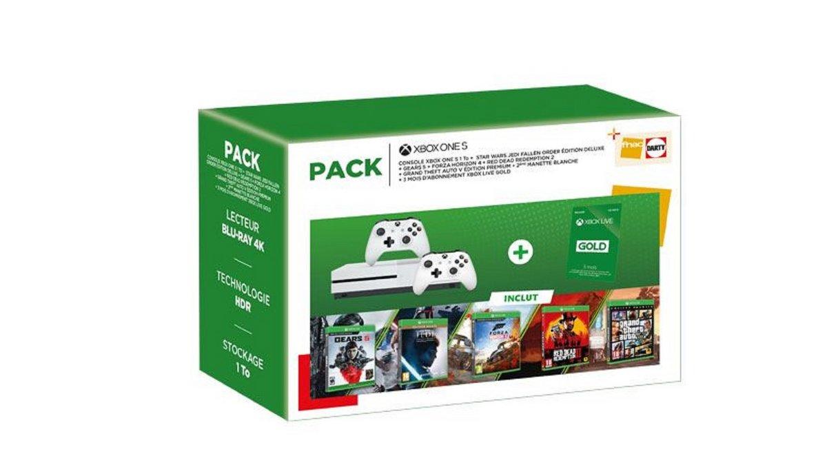 Pack Xbox One S Noël Fnac