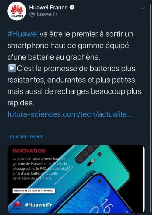 Huawei France P40 Graphène
